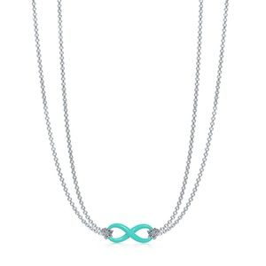 Tiffany Infinity Pendant Necklace Blue Accent